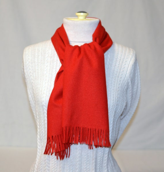 Pendleton® Scarf 12 x 58 Classic RED Wool Scarf me