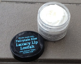 All Natural Scratch-Made Vegan Luxury Lip Loofah Lip Scrub in 10 Different Varieties - Handcrafted Fresh to Order