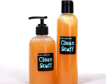 Clean Stuff - 4 oz Screw Top Bottle Sulfate & Paraben Free Naturally Derived All Over Wash Handcrafted To Order Just For You