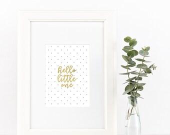 Hello Little One | INSTANT DOWNLOAD digital art print
