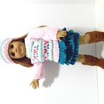 """SALE: Handknit Sweater and Hat for American Girl and Other 18"""" Dolls"""