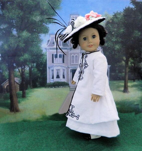 Costume de Dame Grantham marche pour poupées American Girl / Downton Abbey pour American Girl poupées / Edwardian costume et chapeau pour American Girl poupées /