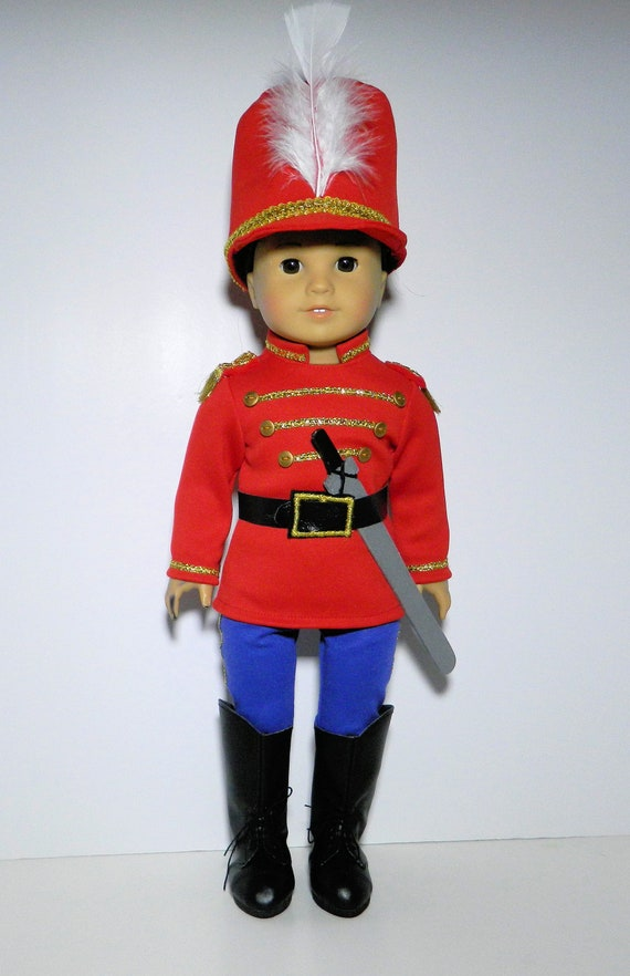 Nutcracker Ballet Toy Soldier Fits American Girl Doll 18 Inch Etsy
