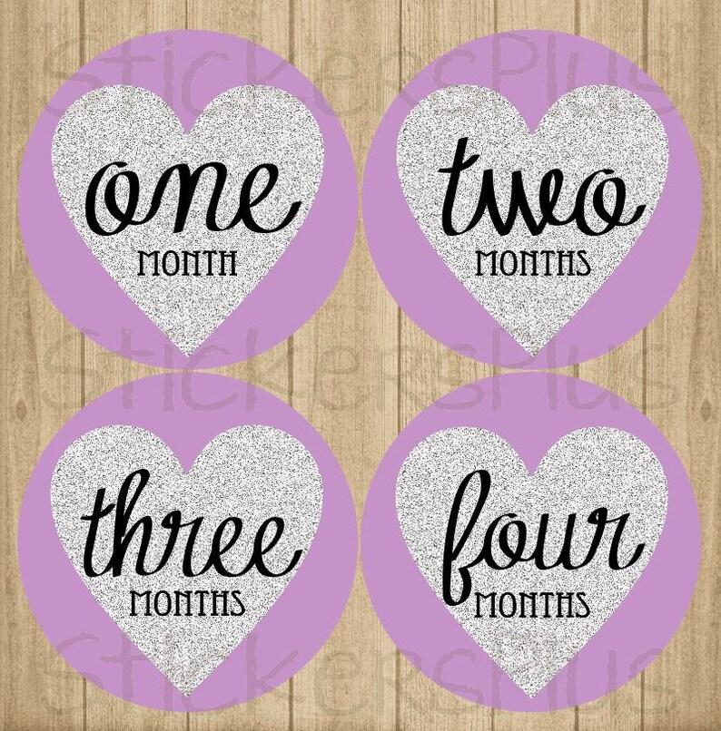 b6f1ab8c9de4 Baby Girl Month Stickers Milestone Bodysuit Monthly Newborn