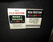 1960s Matchbook RCA Victor Mark 1 Deluxe World 39 s Most Automatic Color Tuning Color TV Scott Electric San Leandro, CA mid century