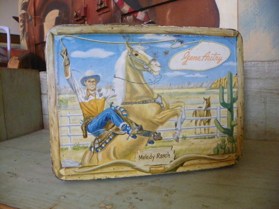 "Gene Autry 1950""s lunch box"