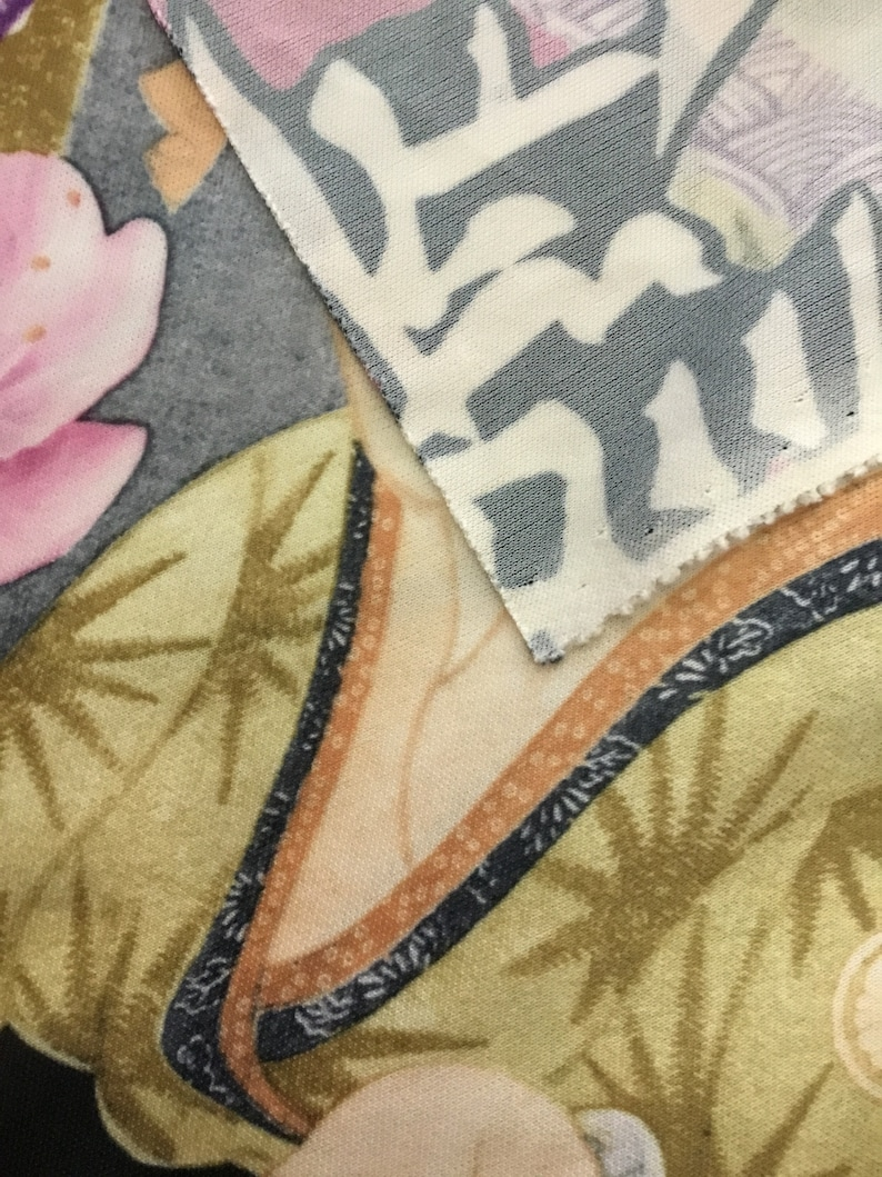 5 Yards Japanese Themed Polyester Stretch Fabric