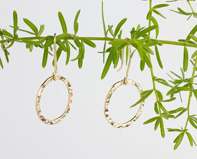 1 Inch 14kgf Hoop Earrings Price image 0