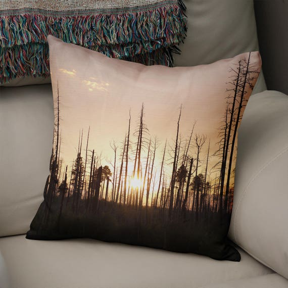 Sunset Pillow Cover, Sunset Decor Ideas, Forest Throw Pillow, Forest Couch  Large Throw Pillow, Arizona Home Decor, Large Couch Cushion