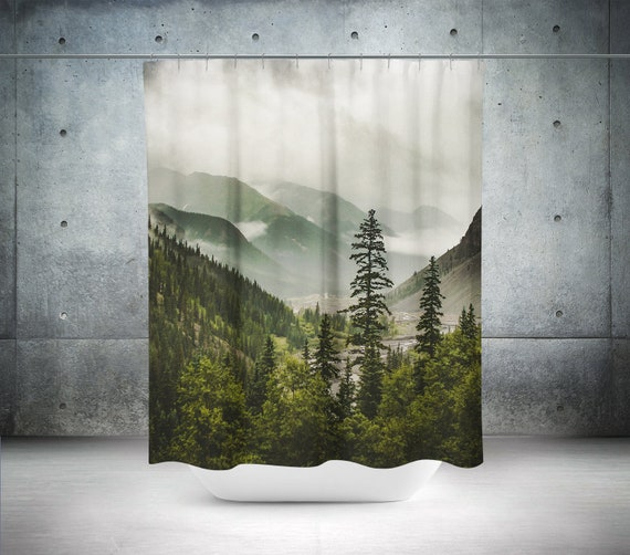 Valley Of Forever Mountain 71x74 Inch Shower Curtain Nature