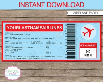 airplane invitation etsy