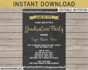 graduation ticket invitation template grad ticket invite etsy