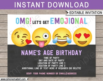 Emoji Birthday Banner Happy Printable