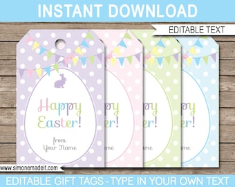image regarding Easter Tags Printable Free referred to as Easter tags Etsy
