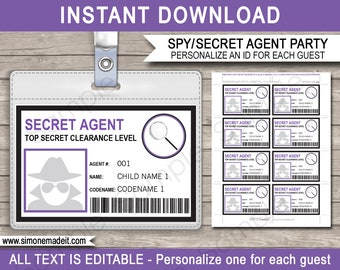 spy party invitations decorations printable spy birthday etsy