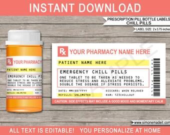 Pill Bottle Labels Etsy