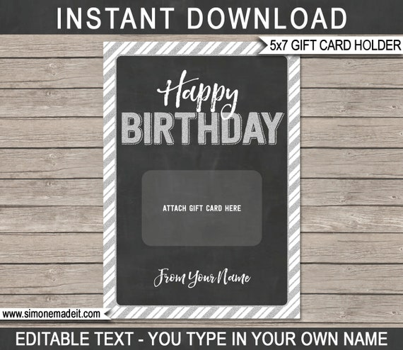 Birthday Gift Card Holder Printable Template