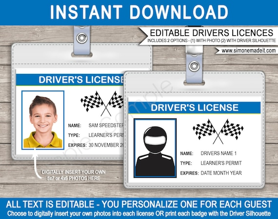 picture relating to Printable License identified as Motorists License Race Auto Birthday Occasion Decorations or
