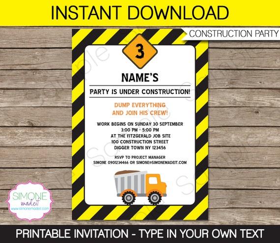 Construction Invitation Template