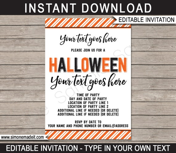 photo regarding Halloween Invites Printable called Halloween Bash Invites - Printable Halloween Invitations