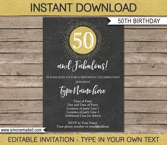 50th Birthday Invitation
