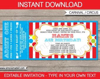 Ticket invitations Etsy