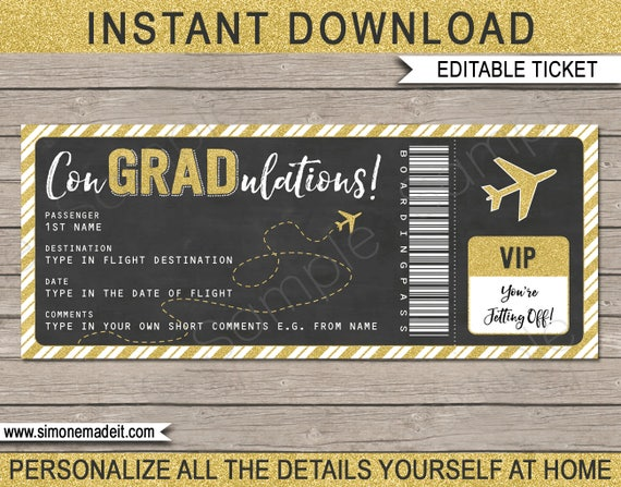 graphic relating to Printable Plane Ticket known as Commencement Boarding P Ticket - Printable Present Airplane