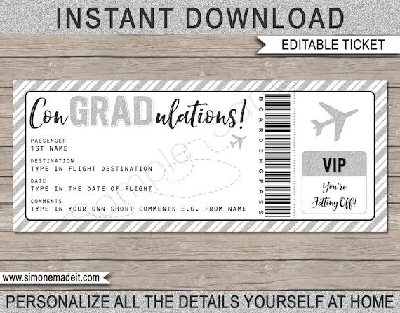 Graduation Gift Plane Ticket