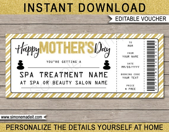 Gift certificate instant download gift card voucher gift jewelry gift for wife gift for her Mother/'s Day gift gift for Mom
