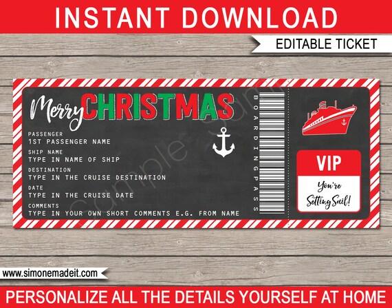 christmas gift cruise ticket