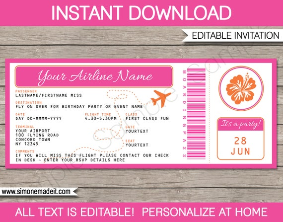 Edit Your Instant Download Personalize My Invitation or Printable