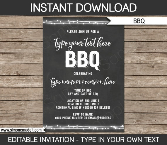 Bbq Invitation Template   Bbq Invitation Template For Birthday Bbq Backyard Bbq
