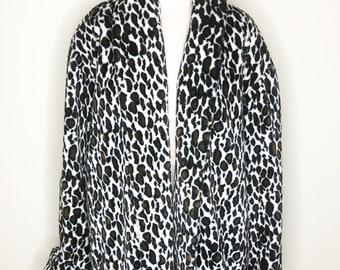 a9e24f6d270b Animal print jacket, faux leopard, swing coat, faux fur coat