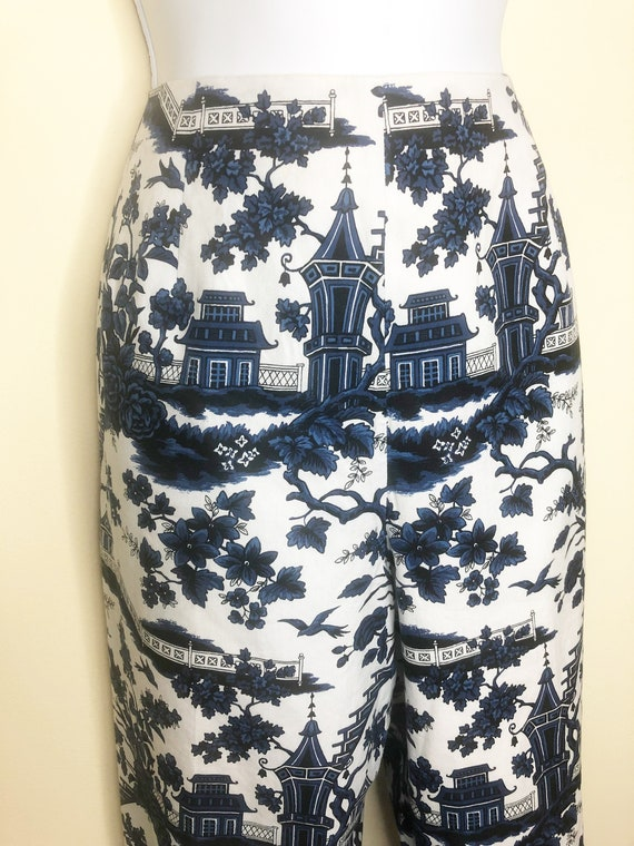Blue Willow capris pants, Talbots clam diggers, co