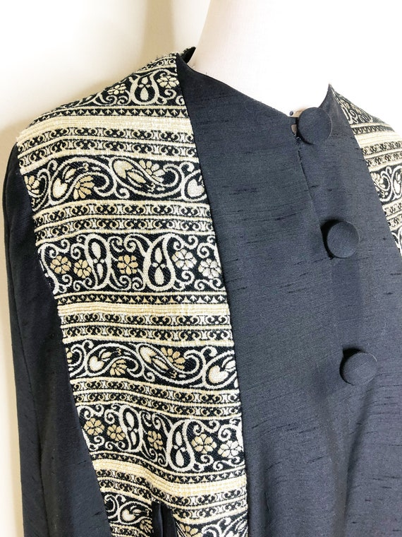 Vintage Black cloak, cape, maxi cape, wrap, embell