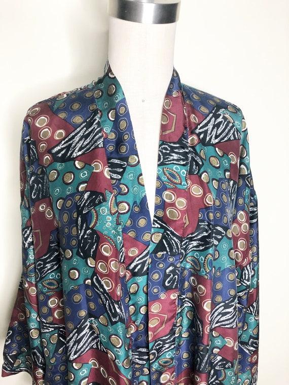Silk robe, silk kimono robe, Isaac Zelcer robe, be