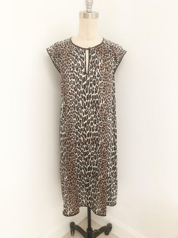 Vintage Vanity Fair leopard print nightgown, anima