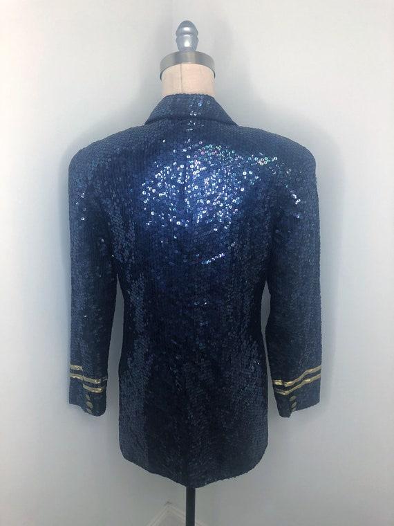 Vintage nautical beaded jacket, Lew Magram double… - image 5
