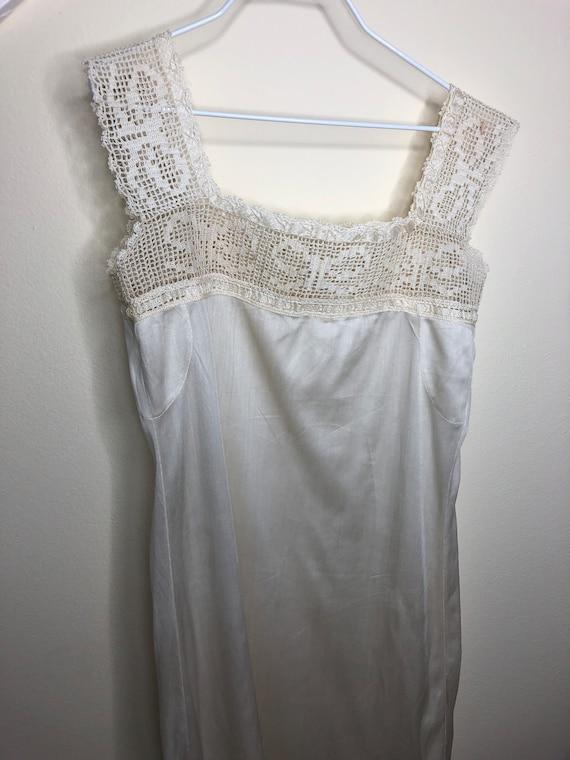 1920's Chemise, camisole, teddy, silk chemise, la… - image 4