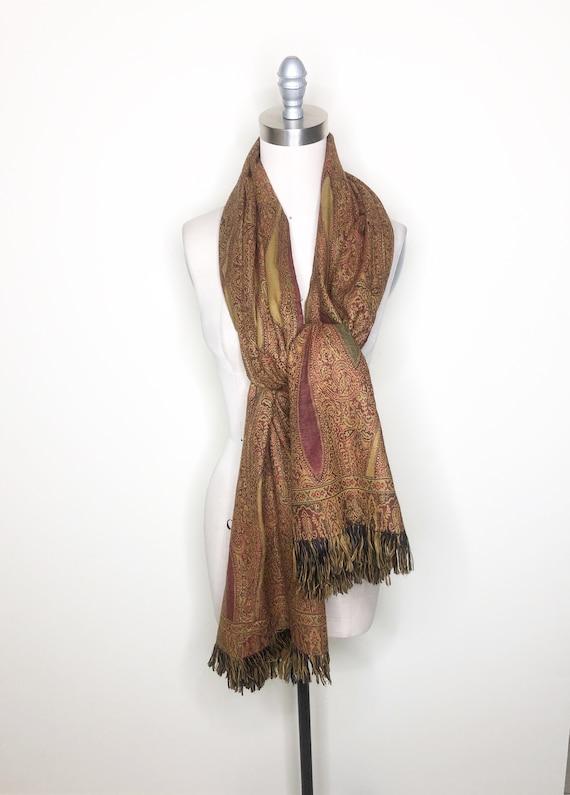 Scarf, Paisley wrap, wool wrap, shawl, piano scarf