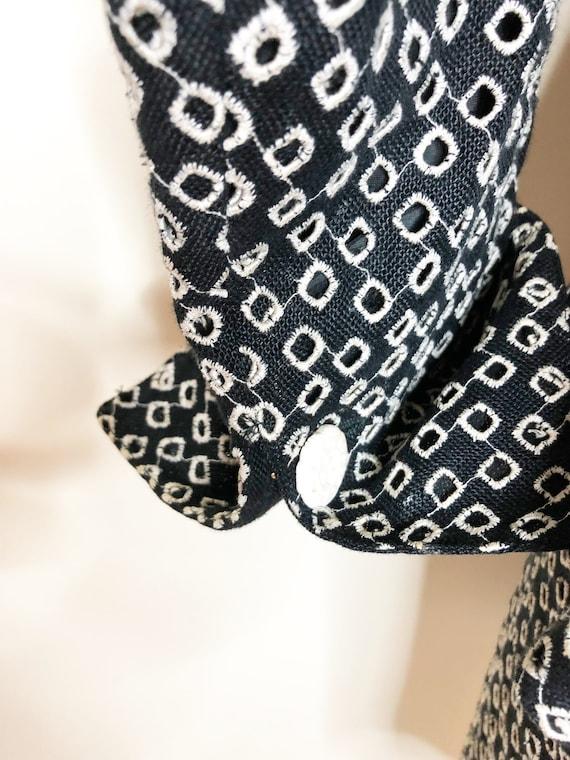 Emanuel Ungaro suit, Paris, black and white suit,… - image 7