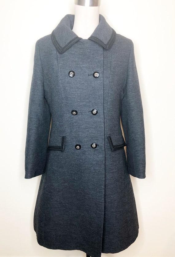 Penn Craft wool coat, princess line coat, double … - image 2