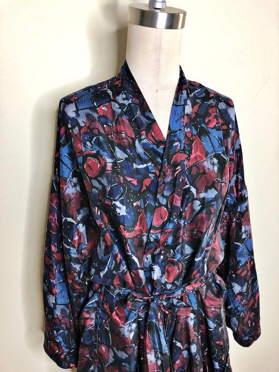 Isaac Zelcer silk robe, kimono robe, one size silk