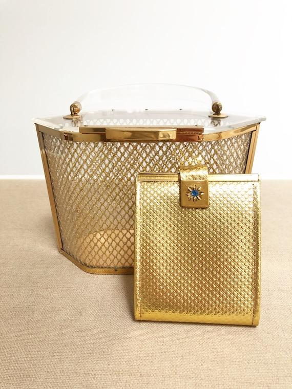 Vintage Majestic lucite evening bag, box purse, mi