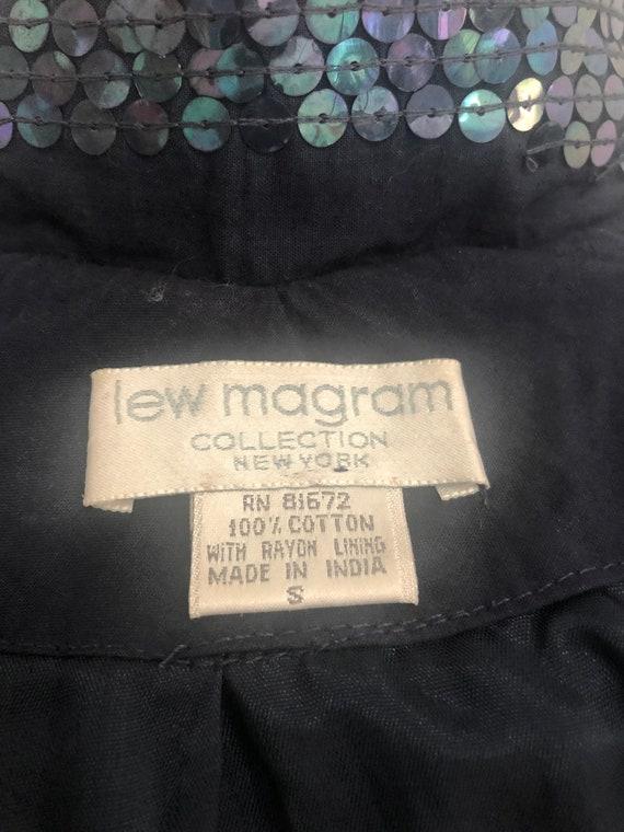 Vintage nautical beaded jacket, Lew Magram double… - image 6