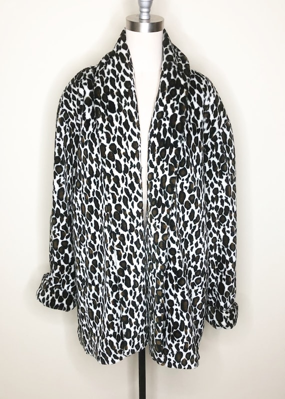 Leopard print, animal print jacket, faux leopard,