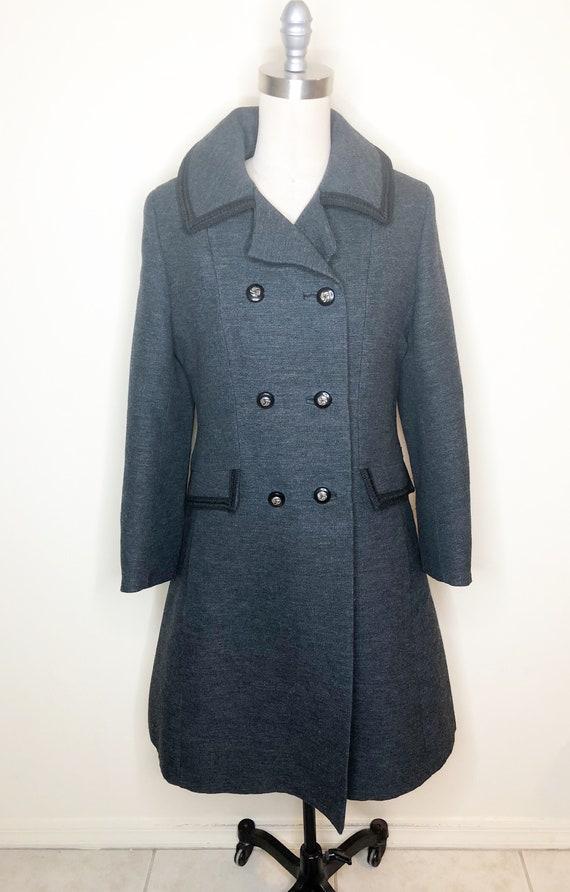 Penn Craft wool coat, princess line coat, double … - image 3
