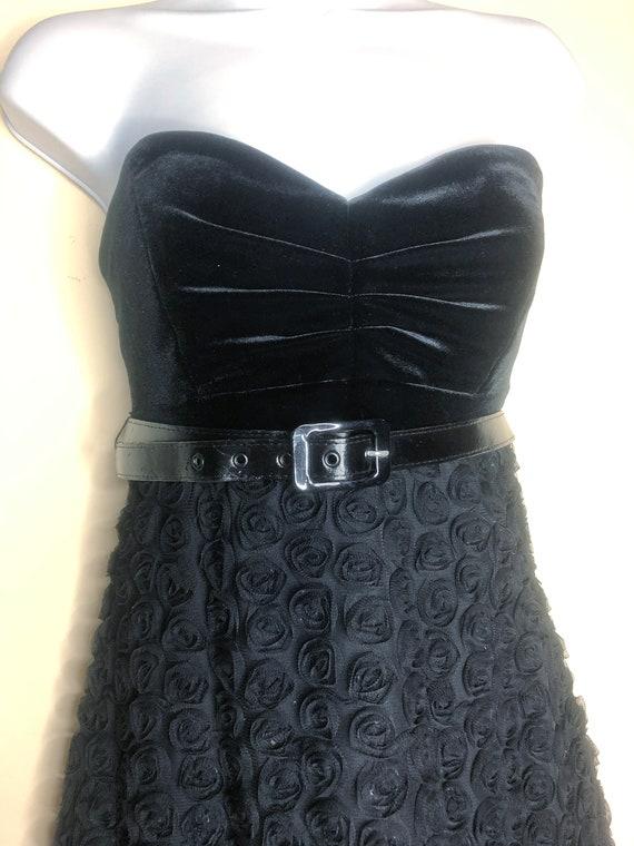 Betsey Johnson mini dress, strapless sweetheart dr