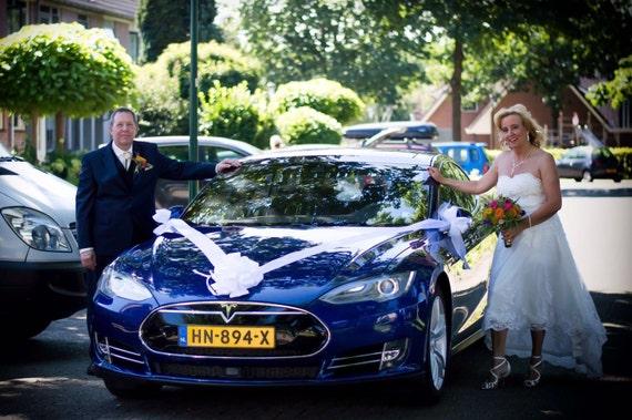 Wonderbaarlijk Satin Bow & linten bruiloft auto decoratie | Etsy UO-59