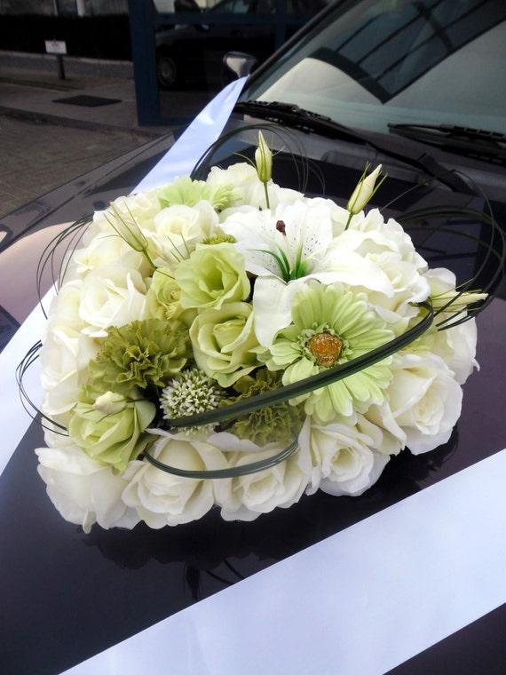 Herz Aus Seide Rosen Hochzeit Blumenschmuck Fur Etsy